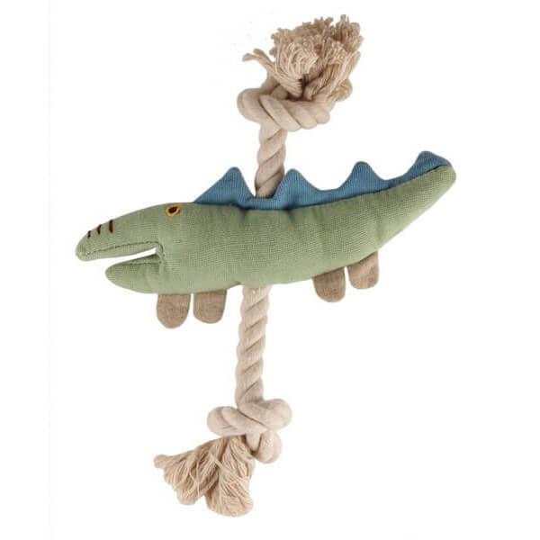 Bavlnene-hracky pre psov_Krokodilik na snurke
