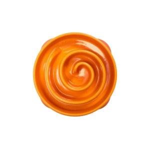 Misky pre psov_Miska Mini oranzova spirala
