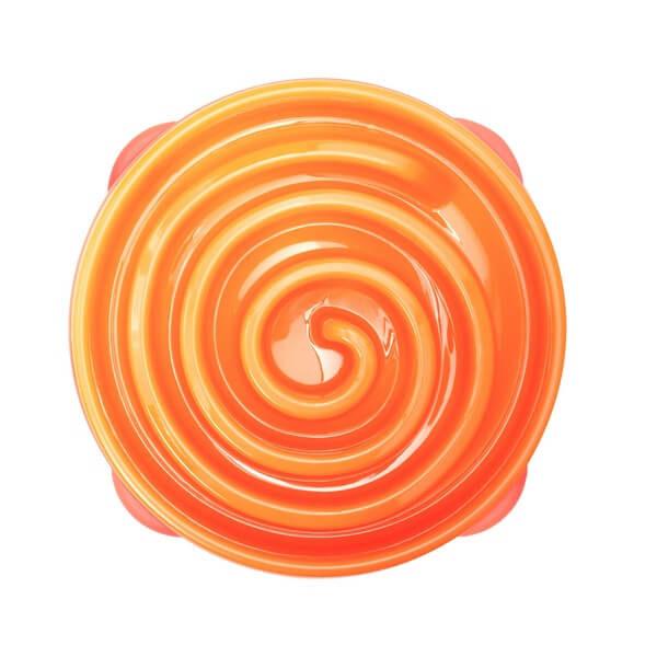 Misky pre psov_Miska Oranzova spirala