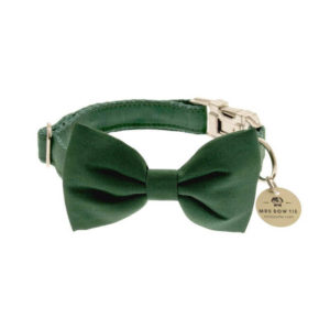 Obojky pre psov_Motylik Evergreen Faux Silk